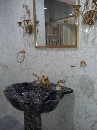 Sherle Wagner Italy Sink by Sherle Wagner Marble Washbasin And Pedestal Semiprecious Stone
