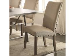 Upholstered Dining Chairs With Nailheads by Coaster Amherst Casual Parson Chair With Tan Fabric Upholstery And