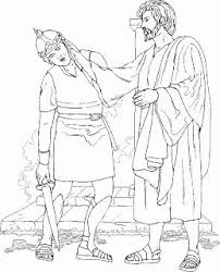 Jesus Heals The Sick Coloring Page Great Healing Black And