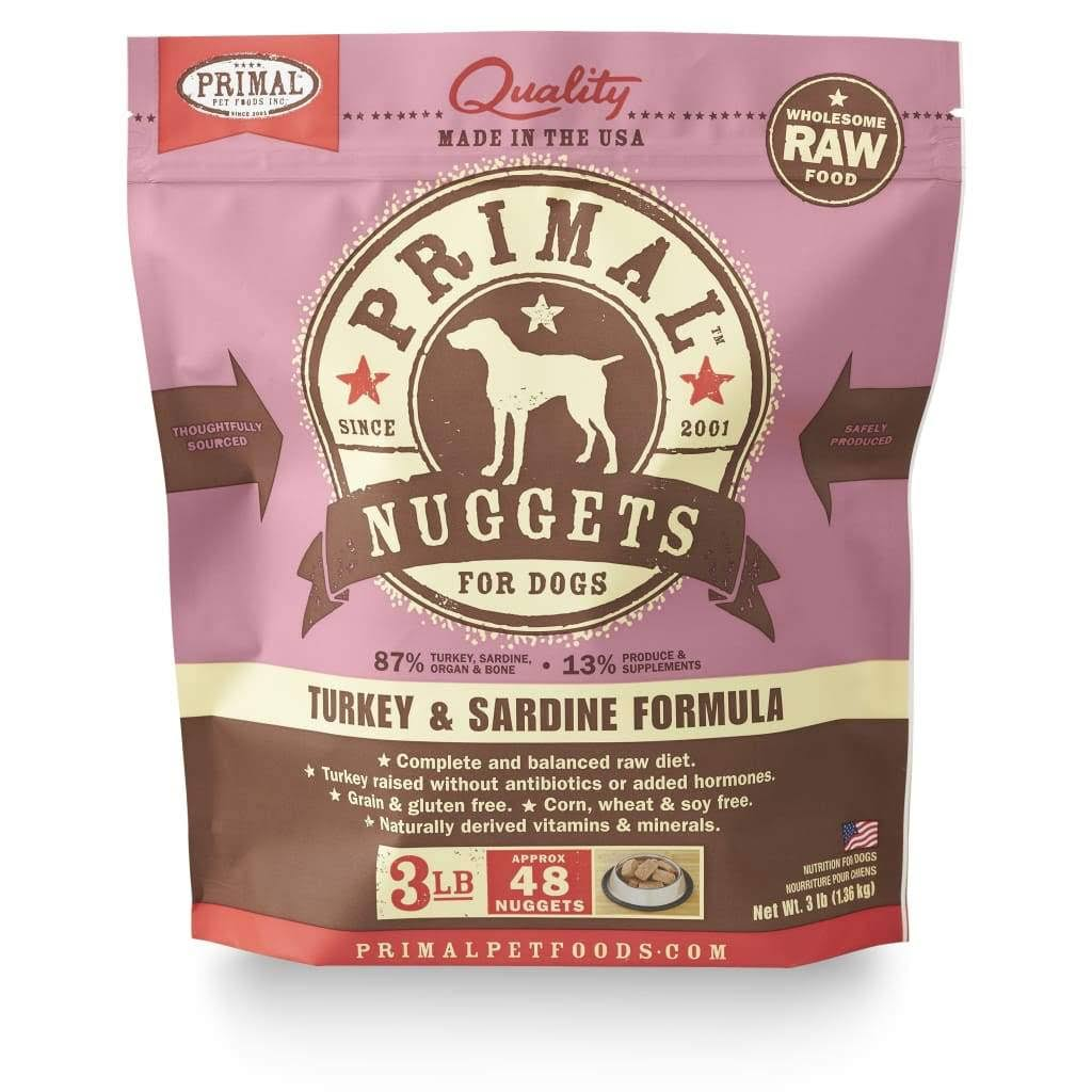 Primal Formula Dog Food - Turkey & Sardine