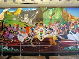 Denver International Airport Murals Painted Over by In Peace And Harmony With Nature Denver Co Murals On