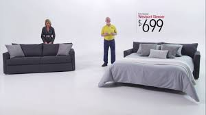 westport sleeper sofa bob s discount furniture youtube