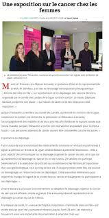 revue de presse ligue contre le cancer