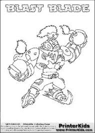Free Printable Page For Kids Coloring With The BLAST BLADE Character From Skylanders Swap Force