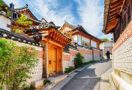 100 South Korea Houses Scenic View Of Old Narrow Street And Traditional N Houses