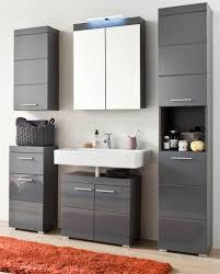 bad möbel set hochglanz grau badezimmer komplett 5 tlg badset amanda 139390121