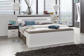 doppelbett bettanlage 2 nachtkommoden mars bett ehebett schlafzimmer 180 x 200 cm weiß lava grau