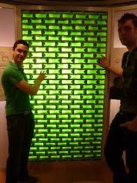 Glass Bottle Walls Made Of Beer Bottles That Are Also Bricks Drink Build