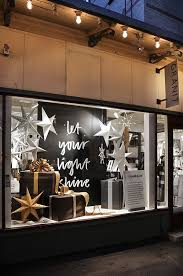 Bright Goods Recommends Using Bold Text In Christmas Shop Display Windows