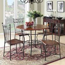 Dorel Living | 5-Piece Wood And Metal Dinette, Walnut / Black