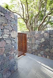 100 Maleny House Gabion Walls And Corten Steel Gate I