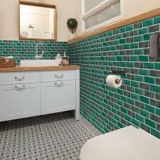 6 stück vintage tapeten keramik einfarbig wasserdicht fliesen wand aufkleber für küche badezimmer dekoration