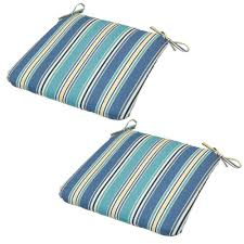 Outdoor Cushions Sunbrella Home Depot by Hampton Bay Rainforest Stripe Outdoor Seat Cushion 2 Pack 7348