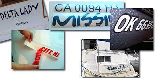 Vinyl Boat Lettering Registration Numbers