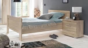 komforthöhe einzelbett für senioren eiche nachbildung