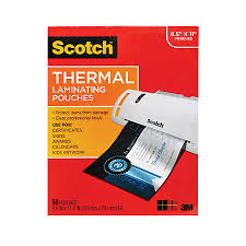 Scotch Thermal Laminating Pouches Letter Size 50 Pack by fice