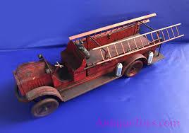 100 Tootsie Toy Fire Truck Kelmet White Pressed Steel SOLD Antique