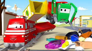 Gary The Garbage Truck Cleans Car City ! - Troy The Train Of Car ...