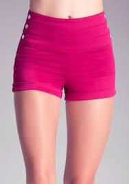 bebe high waist sailor shorts in pink lyst