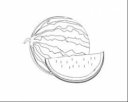 Download Coloring Pages Watermelon Page Incredible Fruits And Vegetables With Line