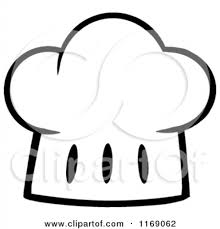 Cartoon Chef Hat Clipart Black And White Panda Free Images