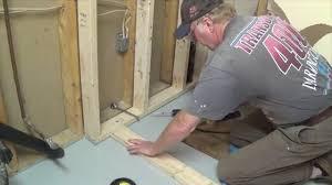 diy basement bathroom part 1 shower stall frame drain