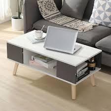 couchtisch beistelltisch lowboard skandinavischen beistelltisch 90 45 39cm fernsehtisch weiß grau