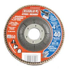Edco Floor Grinder Home Depot by Diablo 4 1 2 In 40 Grit Steel Demon Grinding And Polishing Flap