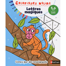Nathan Coloriage Malin Lettres Magiques Grande Section Hourafr