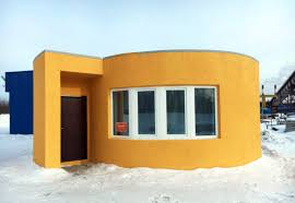 First On Site 3D Printed House Made Of Concrete Erected In Russia