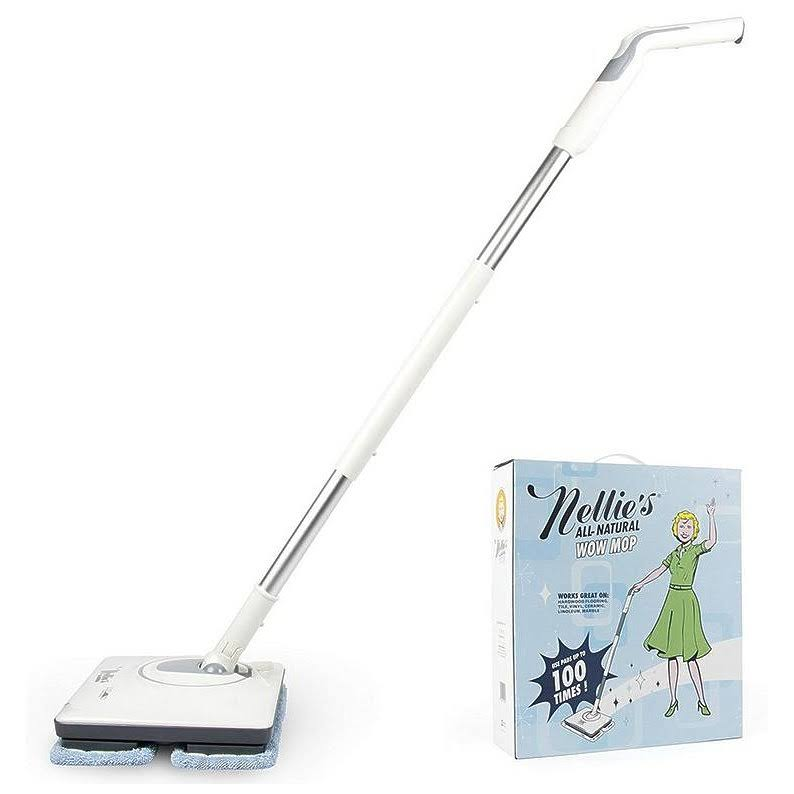 Nellie's All Natural Cordless Light Weight and Rechargeable Wow Mop
