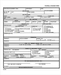 Payroll Change Notice Form Template By 11 Templates Free Sle Exle Format