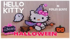 Halloween Perler Bead Patterns by Perler Bead Hello Kitty Halloween Youtube