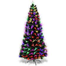 COSTWAY 6ft Fiber Optic Artificial Christmas Tre Prelit Xmas Tree