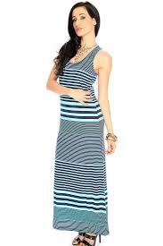 womens clothing maxi dresses navy light blue striped sleeveless