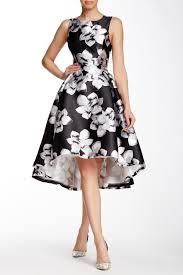 gracia printed hi lo flared dress hautelook