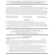 Math Teacher Resume Luxury Student Summary Examples Nice Kindergarten Of