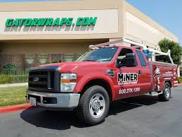 100 Ford F350 Utility Truck Miner Corp Full Wrap Gator Wraps