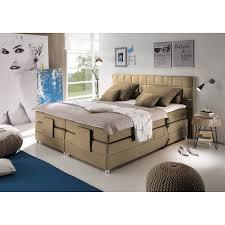 home24 loftscape boxspringbett mohon i 180x200 cm webstoff beige verstellbar mit fernbedienung inkl matratze topper