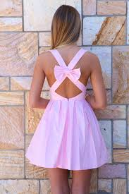 light pink bow back sleeveless dress homecoming lights and clothes