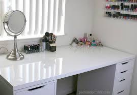 White Makeup Desk With Lights by Debbiedebo1 Desk Vanity Pinterest Ikea Shelves Vanitieseup Table