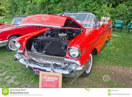 1957 Chevy Convertible Orange Car Editorial Image - Image Of Annual ...