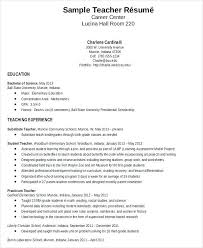 Teacher Resume Sample Free Elementary Samples For Teachers With No Experience Pdf Home Improvement