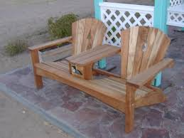 Diy Plans Garden Table by Double Adirondack Chair Plans Free Projects Pinterest Free