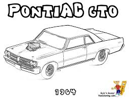 Free Coloring Pic Of A1964 Pontiac GTO Car At YesColoring