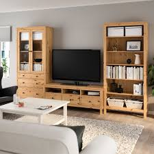 hemnes tv möbel kombination hellbraun klarglas ikea
