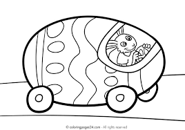 Sheet Free Printable Easter Egg Car Coloring Page