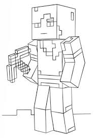 Minecraft Alex Coloring Page From Category Select 27278 Printable Crafts Of Cartoons Nature Animals Bible And Many More