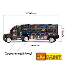 Big Daddy Tractor Trailer Car Collection Case Carrier Transport Toy ... Amazoncom Wvol Big Dump Truck Toy For Kids With Friction Power Farm Iveco Recycle 116th Scale Acapsule Toys And Gifts Of The Week Heavy Duty Ride On Imagine Taco Lunch Tote Mouth Always Fits Dzking Rc Truck 118 Remote Contro End 12272018 441 Pm John Deere 38cm Scoop Big W Powworkermini Fire Vehicle Red Black Red Lepin 20076 Technic Series Set 42078 Building Blocks Radio Control Wheel Monster 4wd Rock Crawler 27mhz Car
