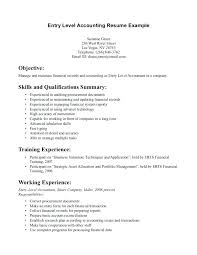Entry Level Accounting Resumes Student Resume Sample For Examples